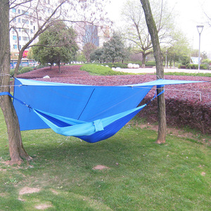 Image 4 - Ultralight Outdoor Portable Hammock Awning Hanging Tent Wear resisting Large Multi functional Mat Folding UV Proof Waterproof