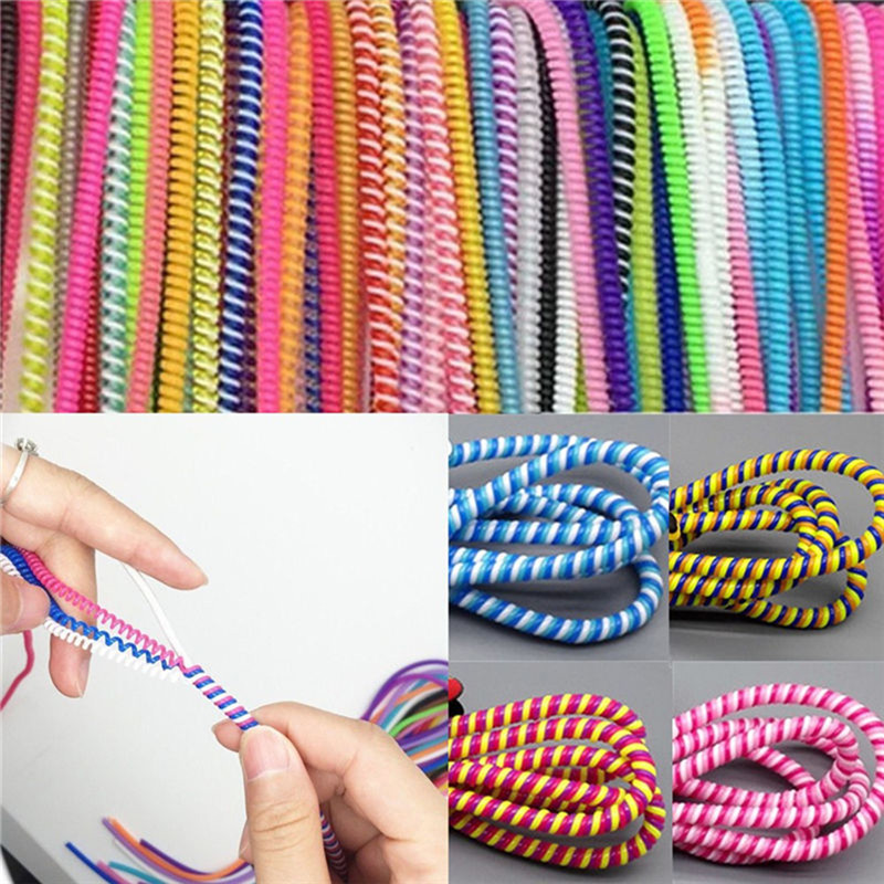 10Pc/3pc Spiral Cord Protector Wrap Cable Winder For USB Charger Cable Cute Animal Organizer For Data Cable Earphone