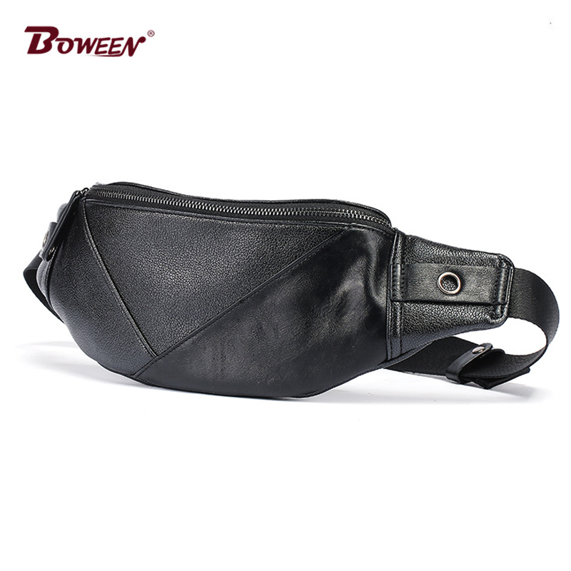 78430b83a20 pu leather men fanny pack belt bag waist bag big solid soft waist packs bags  male