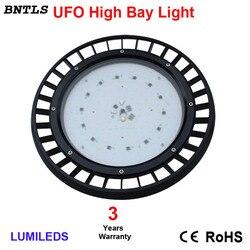 Lámpara de luz LED para techo alto con Reflector 120D-blanco frío 5700 K-para uso comercial, almacén, fábrica, Industrial