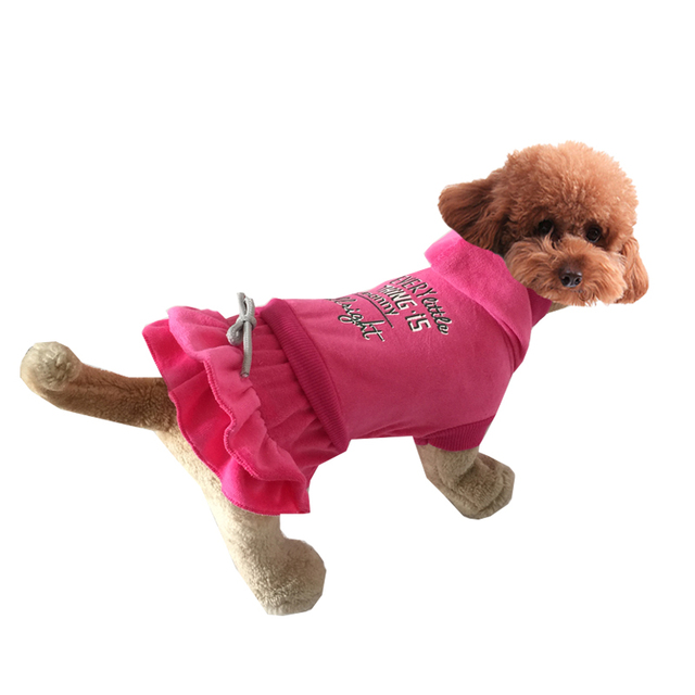 Cute Cake Velvet Material Pet Dogs Dress Coat  Free Shipping Dogs Clothes new clothing for dog