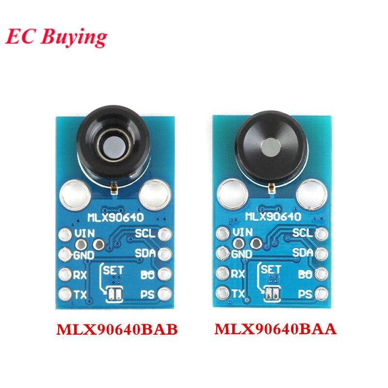 MLX90640 module de caméra IR 32*24 GY-MCU90640 Infrarouge Thermométrique Dot Matrice Capteur 32x24 module de capteur MLX90640BAA MLX90640BAB