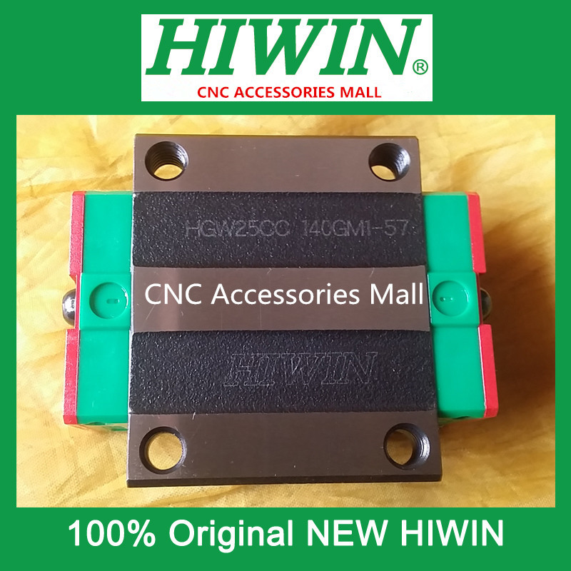2PCS Original HIWIN Linear rail carriage HGW25CC Flange rail block for linear rails HGR25 original hiwin rail carriage block hgh25ha hiwin slider block for linear rails hgr25