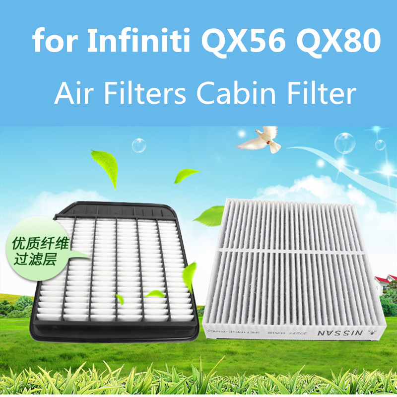 Filtres à Air de voiture filtre de cabine filtres à huile pour Infiniti QX56 QX80 accessoires de Conversion de système d'admission de climatisation