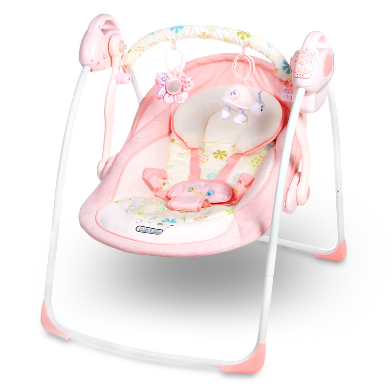Good Remote Control Lovely Pink Crib Electric Baby Swing Musical Rocking Chair  Infant Bouncers Plugging In Baby Cradle Swing In Bouncers,Jumpers U0026 Swings  From ...