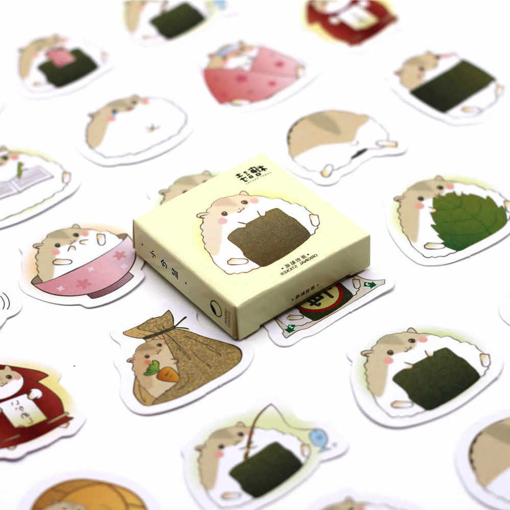 1pcs Hamster Cute Cartoon Stickers Doll Accessories Gift Toys Boy Girl Children