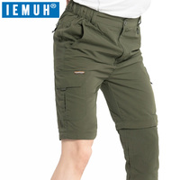 IEMUH Plus Size S-7XL Pants Men Outdoor Breathable Summer Running Trousers Men Quick Dry Camping Hiking Pants Trekking Pants