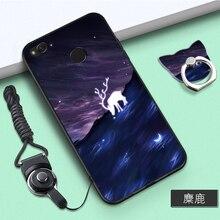 hot deal buy xiaomi redmi 4x case cute style black frame cartoon painted 3d mobile phone cases for redmi 4x redmi4x #001