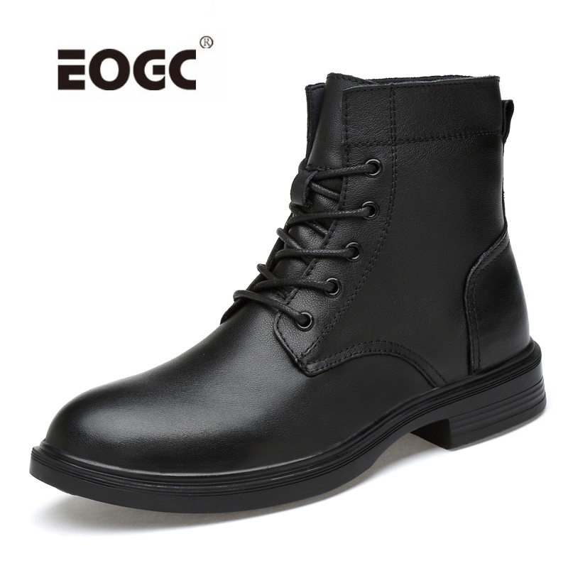 Full Grain Leather Men Boots Plus Size Handmade Warm Men Winter Shoes Waterproof Quality Shoes Men Outdoor Ankle Snow Boots size 37 49 full grain leather men boots top quality handmade plus size 2017 genuine leather men shoes hecrafted brand ls7511