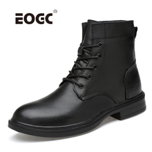 Full Grain Leather Men Boots Plus Size Handmade Warm Winter Shoes Waterproof Quality Outdoor Ankle Snow