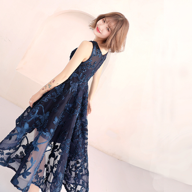 Royal Blue Evening Dresses Long Evening Dress Party Birthday Arabic Evening Gowns Short 2019 Special Occasion Dresses ES2530