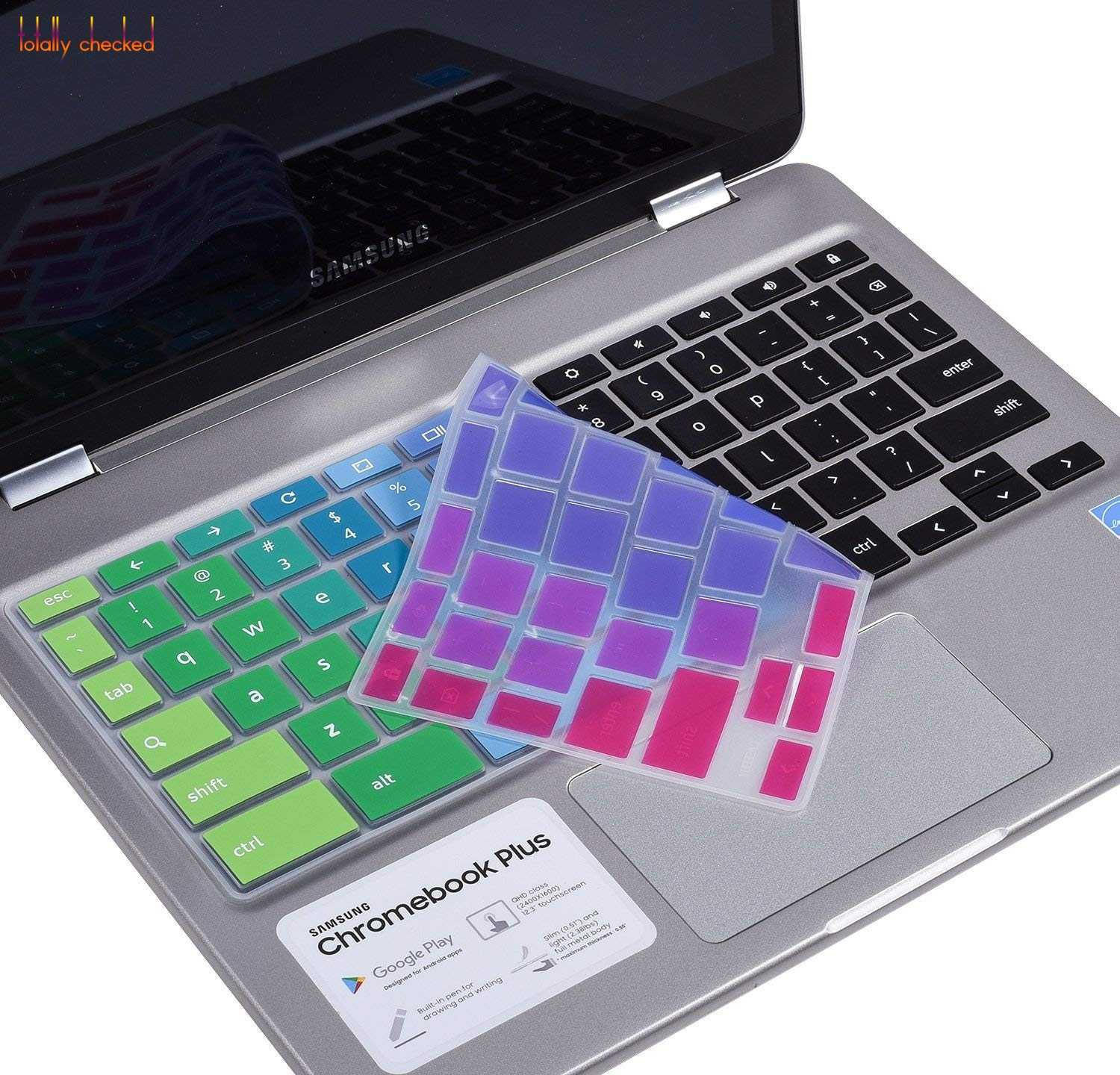 laptop Keyboard Cover Skin for Samsung Chromebook Plus XE513C24 12 3'' /  For Samsung Chrome book Pro 12 3 inch XE513C24