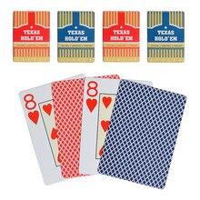 Пластиковые скрабы для покера Техасского холдема, противоскользящие широкие карты, черный Бакар, ПВХ покер