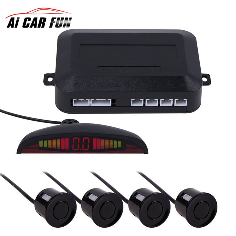 7 colors Sensor Kit Car Auto LED Display 4 Sensors For All Cars Reverse Assistance Backup Radar Monitor Parking System 1 Set