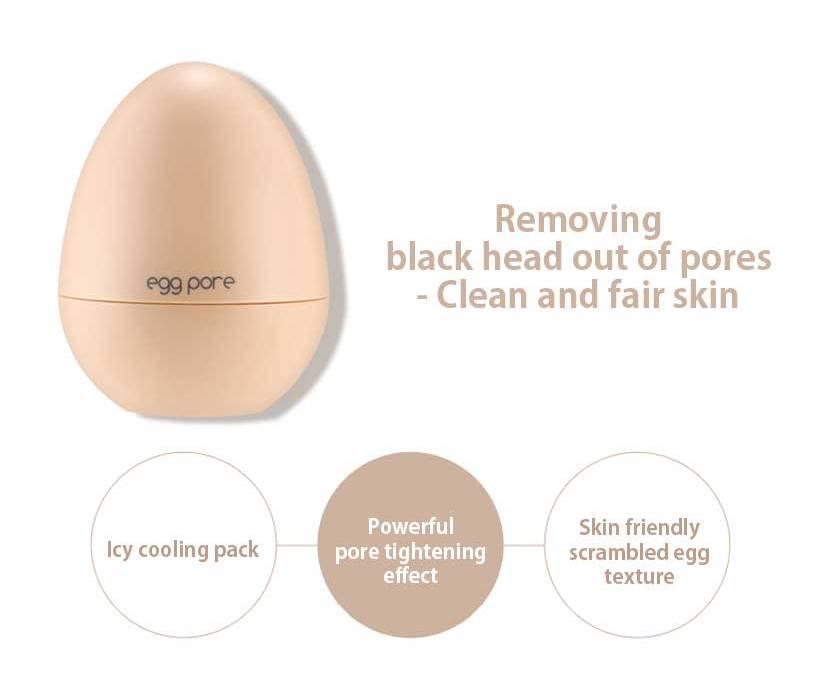 ZANABILI Egg Pore 3 Items Set (Blackhead Steam Balm + Cooling Pack+Smooth Balm) Face Mask Black head Remover Shrink Pore Smooth