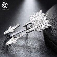 Flecha Diseño Pendientes de Plata Pavimentado 51 Unidades de lujo Brillante de Cristal Austriaco Rodio Plateado 925 de La Joyería para Las Mujeres SE04