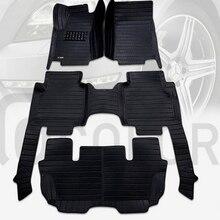 Коврики лучшего качества! Специальные автомобильные коврики для Ford Explorer 7 мест-2011 водонепроницаемые Автомобильные ковры для Explorer