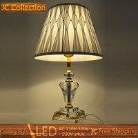 Crystal Table Lamp Clear Vintage Desk Lamp E27 Bulb 220V 110V Bedroom Bar Table Light