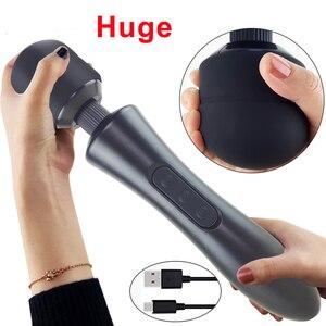 Image 1 - Rất Lớn Đũa Rung Đa Năng Cho Phụ Nữ, USB Sạc Lớn AV Dính Nữ Điểm G Máy Massage Âm Vật Máy Kích Thích Đồ Chơi Tình Dục Người Lớn Cho Người Phụ Nữ