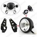 Negro de la motocicleta de la Linterna Del Faro de Niebla del LED Lámpara de Luz Con Soporte Universal de instalación Personalizada