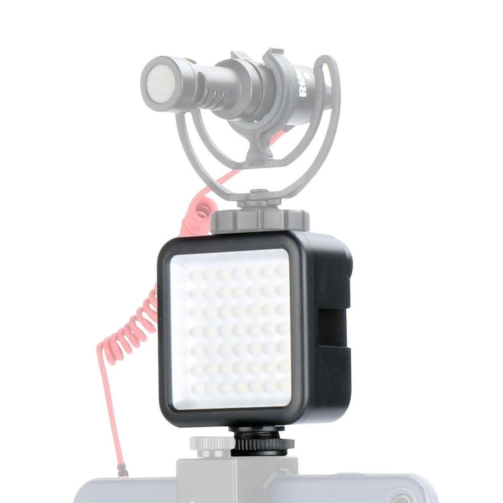 Ulanzi 49 Luz de vídeo LED para DJI OSMO Mobile 2 Zhiyun Suave 4 cardán estabilizador de Canon. nikon SONY DSLR cámaras