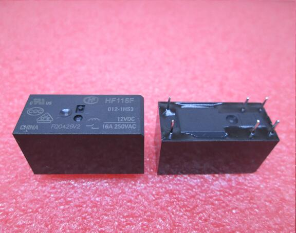 NEW relay JQX-115F-012-1HS3 12VDC HF115F JQX-115F 012-1HS3 JQX-115F 012-1HS3 12VDC DC12V 12V 16A 250VAC DIP6 20pcs/lot