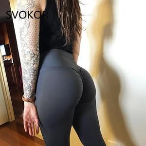 Image 4 - SVOKOR Camo Printing Fitness Leggings Women High Wist Polyester Pants Comfortable Workout Push Up Fashion Women Leggings