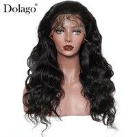 Бразильской волне тела Full Lace парики человеческих волос с ребенком волос для Для женщин 130% плотность предварительно сорвал натуральный черн