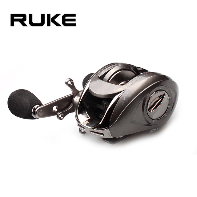 Ruke Fishing Reel Casting Reel Gear Ratio 5.1 :1 Aluminum Spool Magnetic Brake Bearing 5+1 EVA Knob 218g Max Drag 4.5KG 1