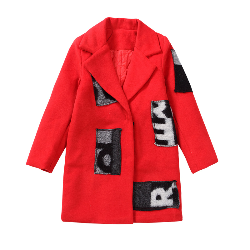 Girls Thickening Outerwear & Coats Print Jacket Brand Solid Kids Jacket Teenagers Girls Winter Jacket 4 5 6 7 8 9 10 11 12 Years