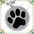 CMJ8088 Paw print urn ash pendant stainless steel cremation jewelry high quality memorial jewelry collar colgante