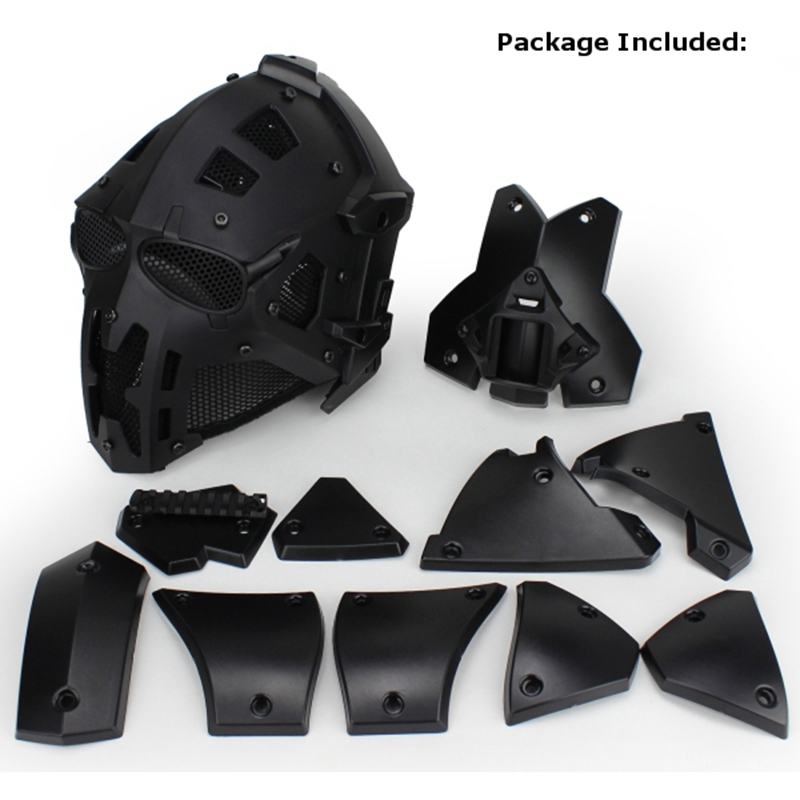 Motor Full Face Helmet Protective Obsidian Casque For Motorcycle Tactical Military Training Polymer Engineering Materials - 2
