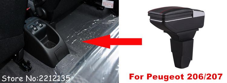 Бесплатная доставка поворотный подлокотник для peugeot 206/206cc