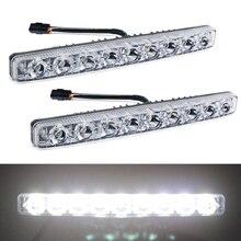 YIJINSHENG автомобиль Универсальный подходит 9 светодио дный LED высокой светодио дный мощности светодиодные дневные ходовые огни DRL Комплект Экстремальный супер яркий точечный противотуманный фонарь ксенон белый