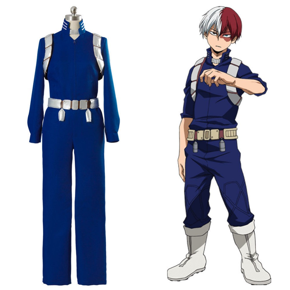 Boku no My Hero Academia S2 Shoto Shouto Todoroki Battle Suit II Cosplay Costume full set