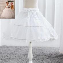 990177c5e7 Blanco falda de tul de bebé faldas Tutu Faldas niños enagua falda Niños  Accesorios de la boda chica Petticoat crinolina