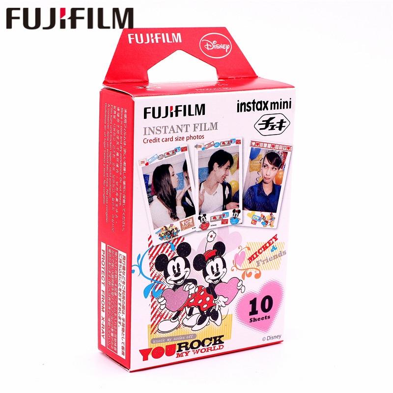 Original Fujifilm 10 sheets Instax Mini MICKEY Friend Instant Film photo paper for 8 7s 25 50s 90 9 SP-1 SP-2 Camera
