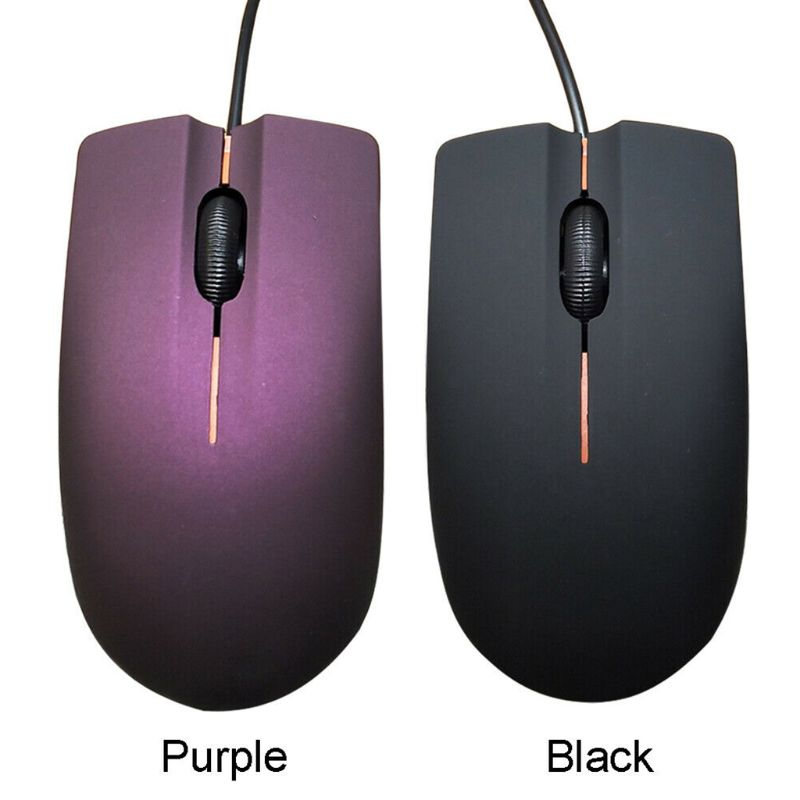 USB Wired Mouse Portable Frosted Surface 1200DPI Optical Gaming Mice For Office PC Laptop Computer Accessories