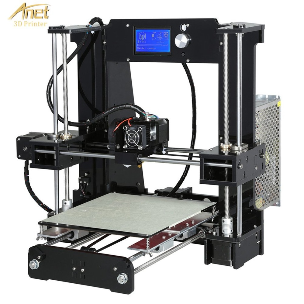 Anet A6 3D Printer High-precision Large Print Size 220*220*250mm LCD Display Aluminum Hotbed Desktop 3D Printing Machine Kit anet a6 3d desktop printer kit