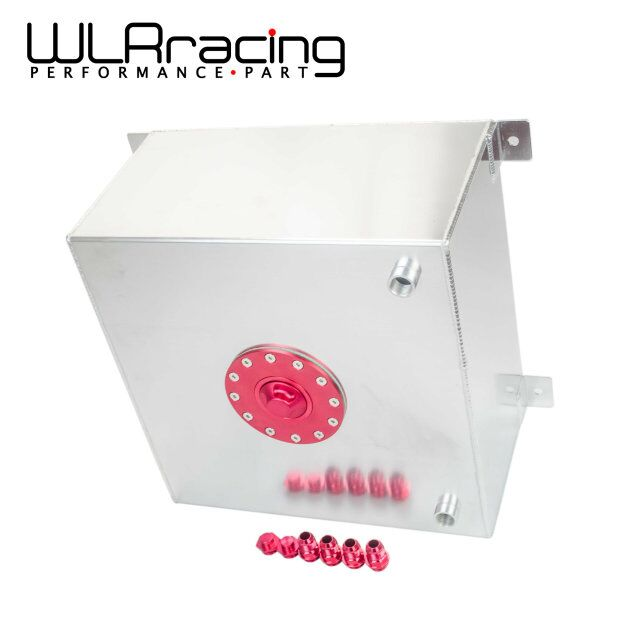 WLR RACING - 15 GALLON/56.8L RACING ALUMINUM GAS FUEL CELL TANK WITH BILLET RED CAP FUEL SURGE TANK WLR-TK72 gas fuel cap