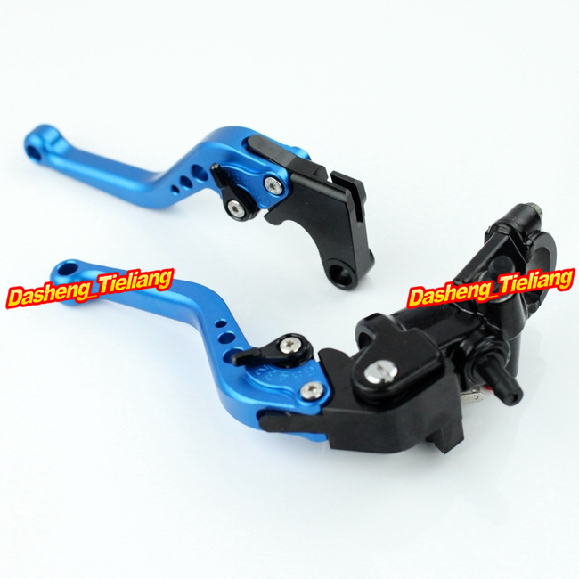 Adjustable Motorcycle Brake Clutch Levers w/ Adapter For Yamaha YZF R1 2004-2013 & YZF R6 2006-2013 Blue High Quality with logo yzf r1 black titanium adjustable folding motorcycle brake clutch levers for yamaha yzf r1 2004 2005 2006 2007 2008