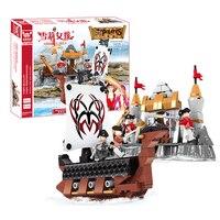 海賊戦争モデルビルディングブロック組立小さな粒子教育レンガbrinquedosおもちゃ子供向けクリスマスギフト