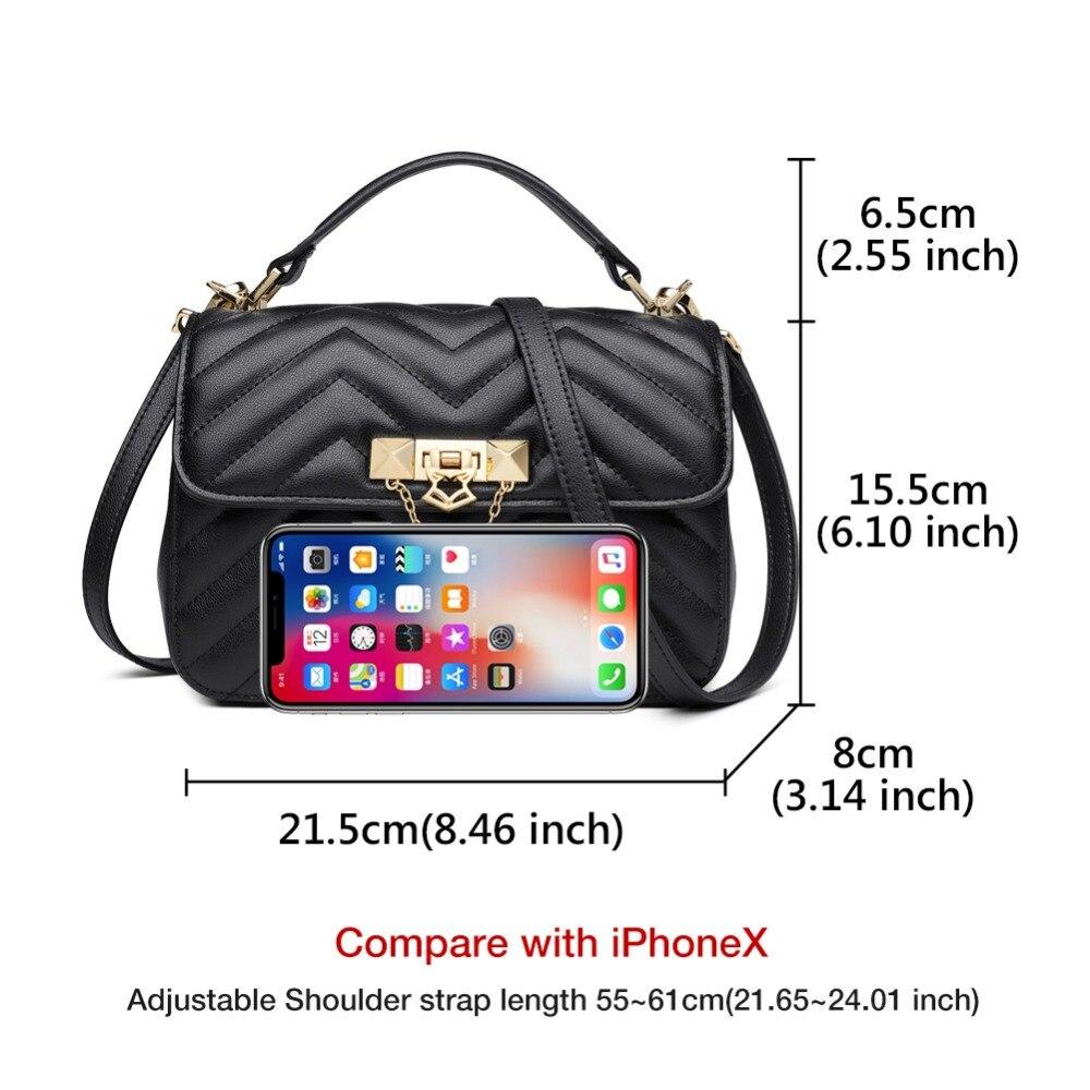 FOXER Brand Elegant Qualities Lady Solid Shoulder Bags Female Fashion Diamond Lattice Split Leather Messenger Bags for Women 3