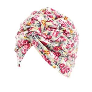 Image 3 - Мусульманские женщины хлопок Цветочный Цветок вязанный тюрбан шапка шарф Рак химиотерапия шапочка при химиотерапии головной убор аксессуары для волос