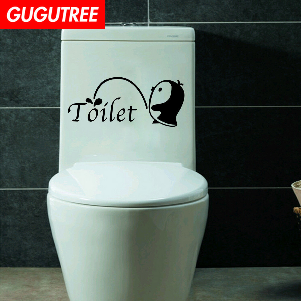 Toilet Seat Wall Sticker Bathroom Decoration Decals Decor Flower Wall mural EV