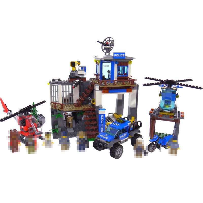 Lepin New 02097 742Pcs City Series The Mountain Police Headquater Set Building Blocks Bricks Toys 60174 Model As Gifts For Kids 02020 lepin new city series the new police station set children educational model building blocks bricks diy toys kid gift 60141