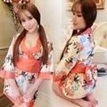 1 Pc Moda Kimono Tamanho Grande Mulher Senhora Sleepwear Lingerie Role Play Jogo Uniforme Interesse Pijama