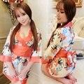 1 Unid Kimono Moda Tamaño Grande Juego de Rol Uniforme Señora de La Mujer Ropa Interior Ropa de Dormir Pijamas de Interés