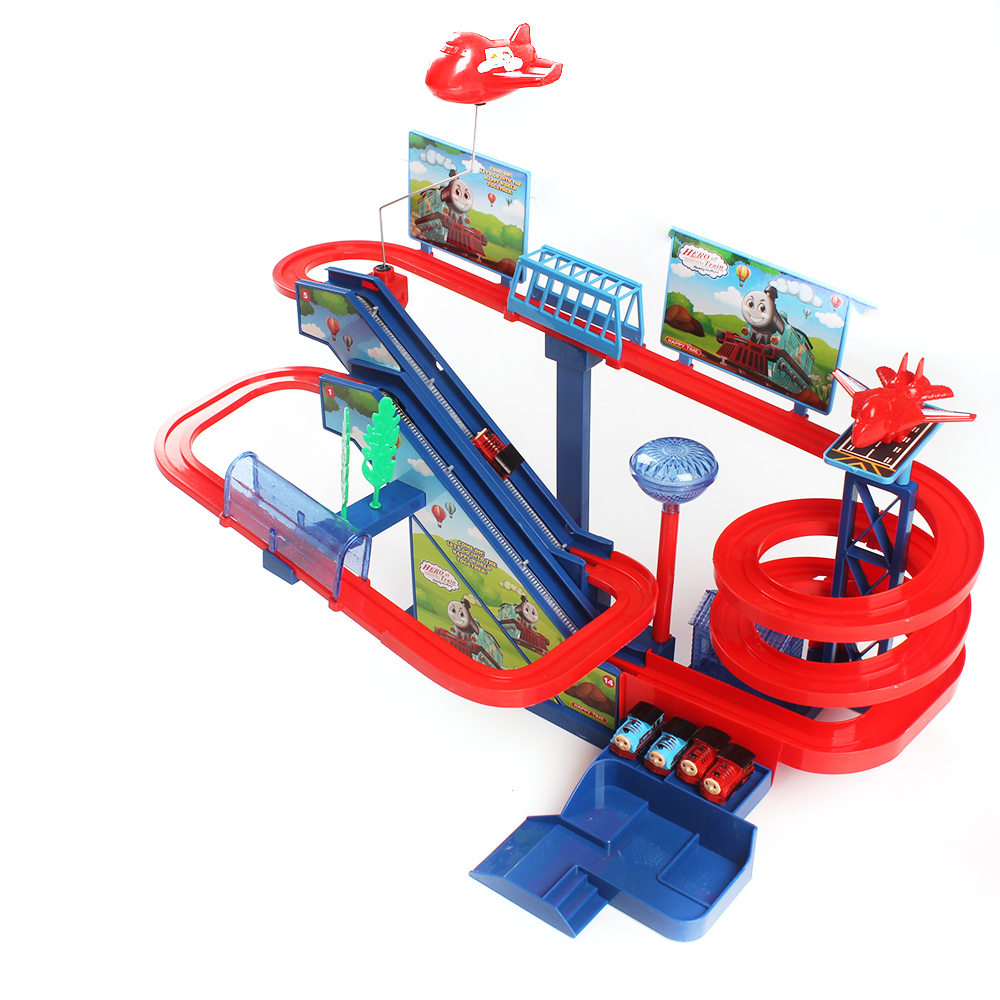 Music & Light Thomas Rail Car Toys Large Roller Coaster Track Kid Electric Train Assemble Railway Toy Childrens Birthday Gift