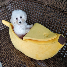 Pet Cat House Funny Dog Bed Banana Shape Lovely Cute Kennel Nest Warm Sofas Sleeping